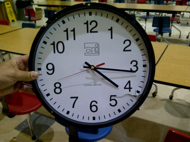 Clock with hands at four sixteen.